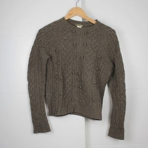 Taupe J Crew Size Small Lambswool Sweater